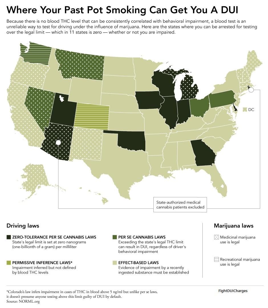 Marijuana DUI Laws Infograph